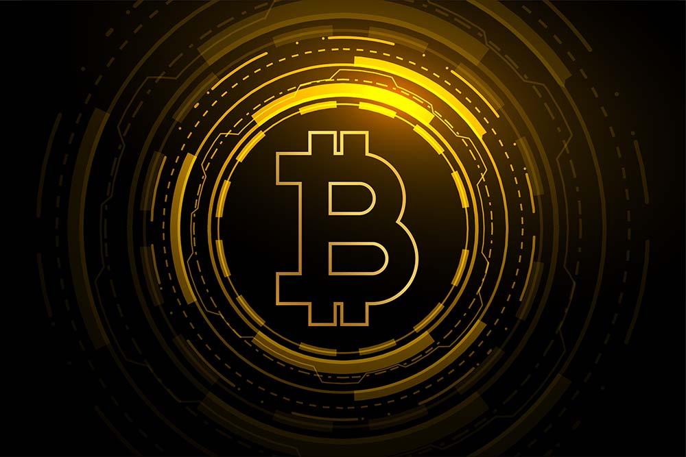 Black Bitcoin Logo