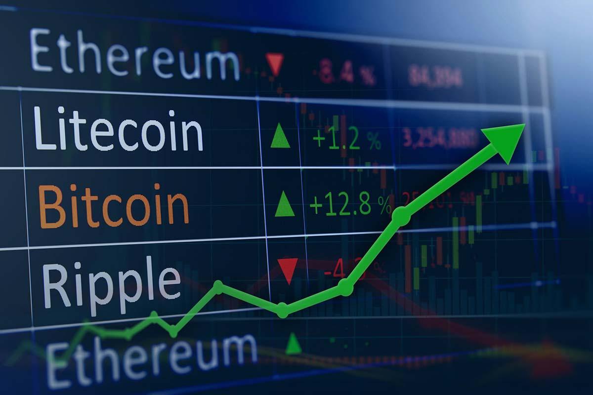 cryptocurrencies rising